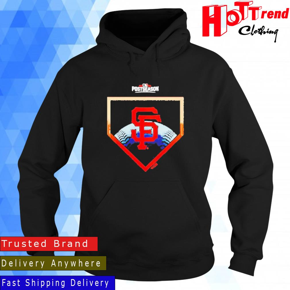 Fanatics Branded San Francisco Giants Women's Black 2021 Postseason Around the Horn Shirt Hoodie