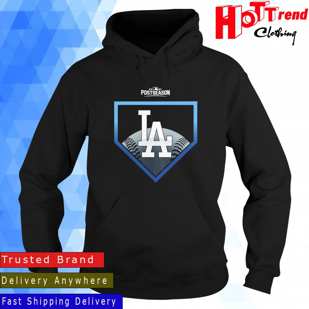 Los Angeles Dodgers Fanatics Branded Black 2021 Postseason Around the Horn Shirt Hoodie