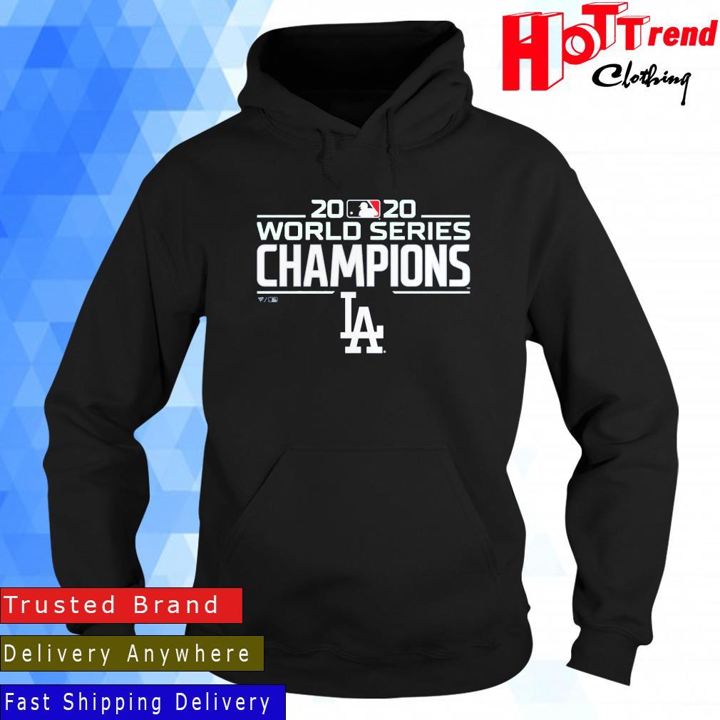 Los Angeles Dodgers Fanatics Branded Royal 2021 Postseason Locker Room Shirt Hoodie