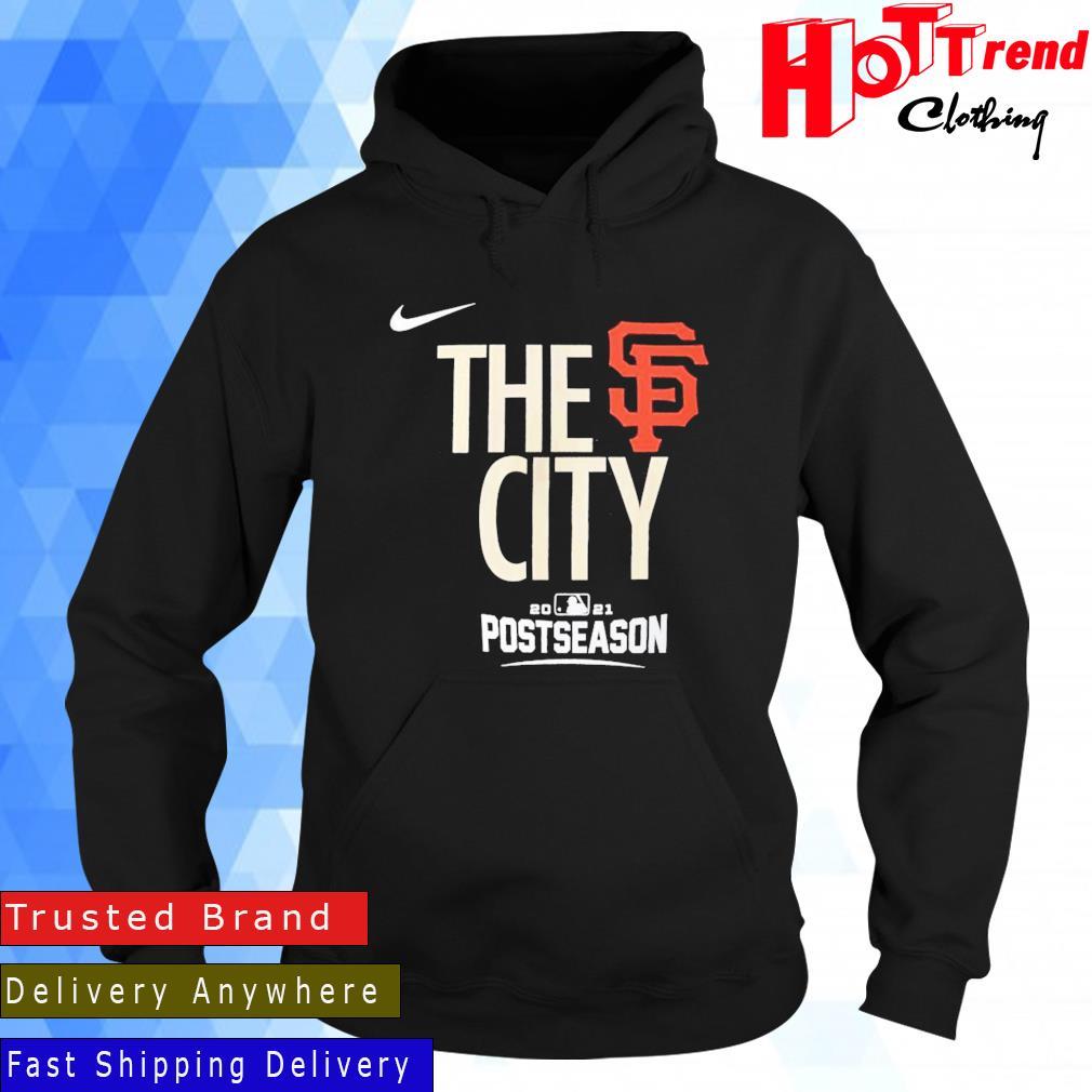 Nike San Francisco Giants Black 2021 Postseason Authentic Collection Dugout Shirt Hoodie