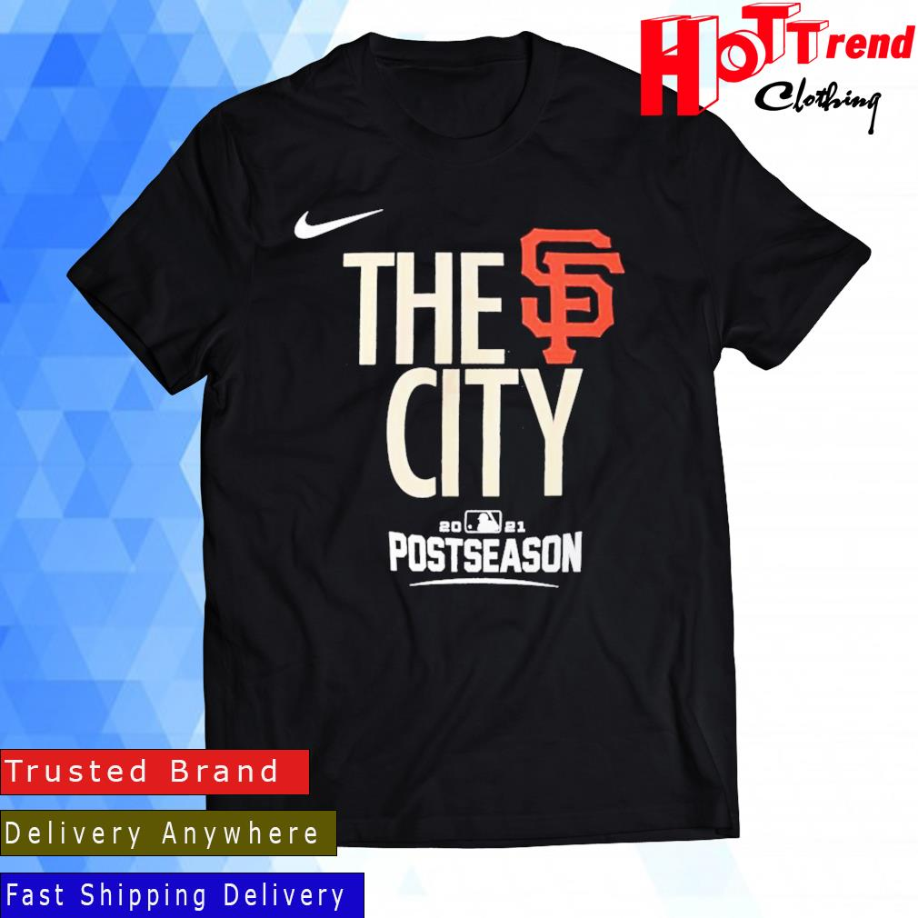 Nike San Francisco Giants Black 2021 Postseason Authentic Collection Dugout Shirt