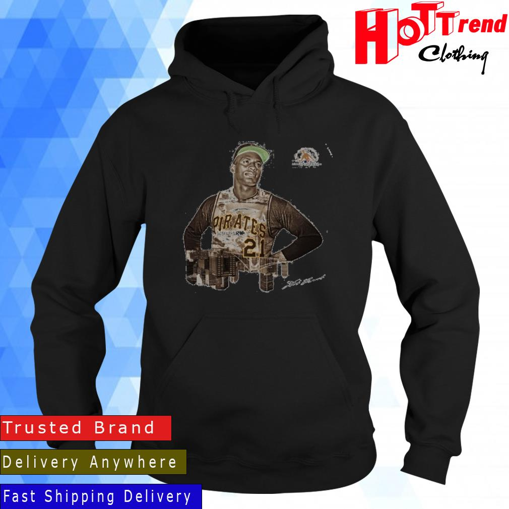 Pittsburgh Pirates Roberto Clemente Number 21 Signature Shirt Hoodie