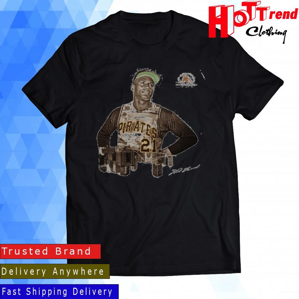 Pittsburgh Pirates Roberto Clemente Number 21 Signature Shirt