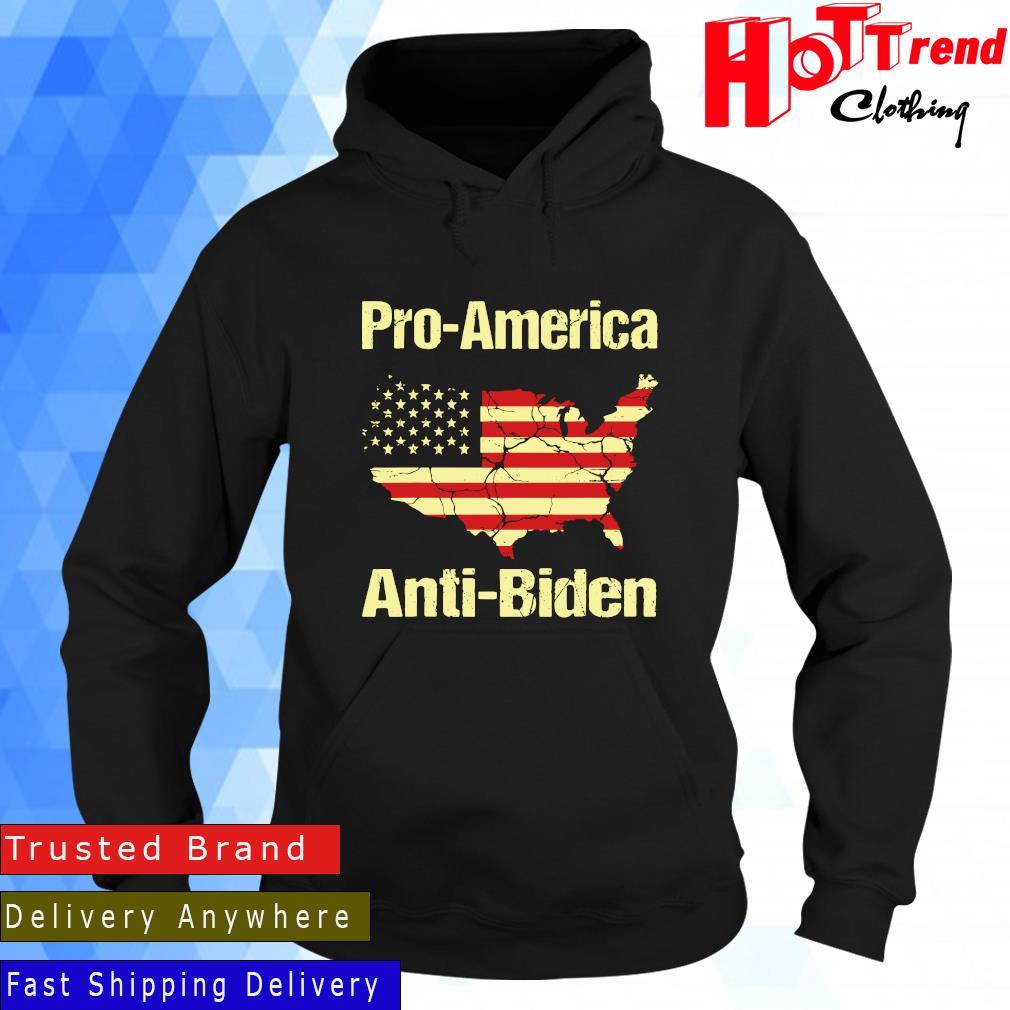Pro America Anti Biden American Flag Shirt Hoodie