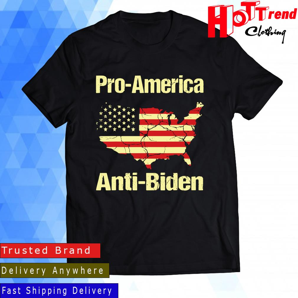 Pro America Anti Biden American Flag Shirt